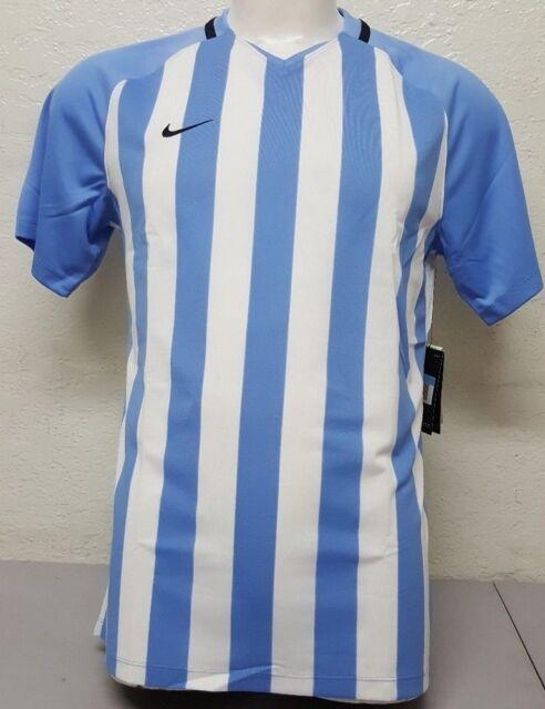 NIKE STRIPED DIVISION III Short Sleeve Junior Football Shirt