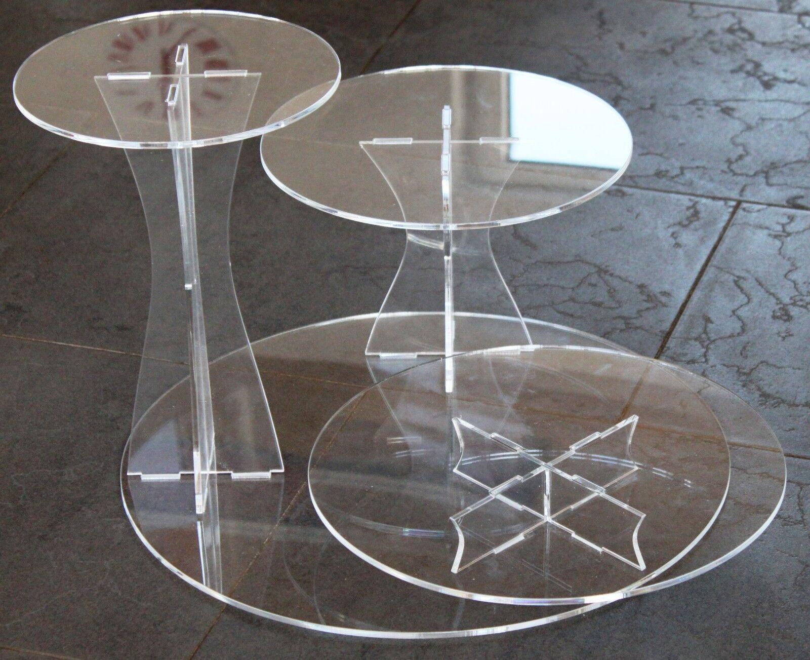 À secteurs support acrylique etagere mariage 3 étages plexiglas noble & stable