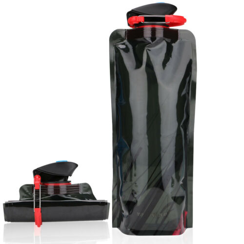 700ML Reusable BPA-free  Sports Folding Water Bottle Cup Bag for Hiking Outdoor