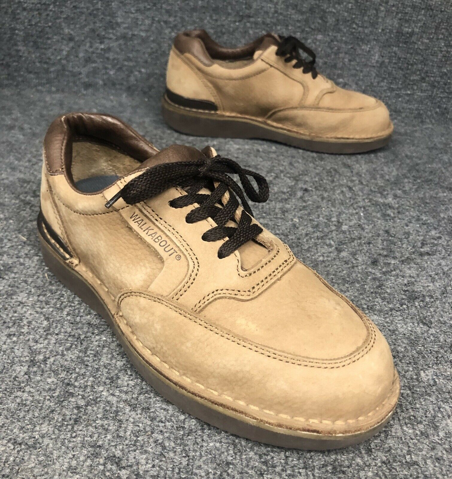 Footonic II Eva-Tech Walkabout Tan Leather shoes Mens Sz 7.5 E4 Extra Extra Wide