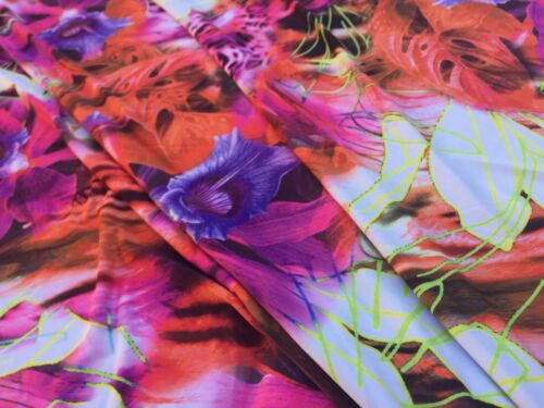 dress fabric Elastane Printed Jersey /'Carnival Time/', 1.40m x 1.40m piece