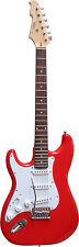 E-Gitarre ST5RL rot, linkshand/linkshänder,Massivholzkörper,Kabel,Tremolo, MSA!n