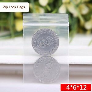 100pcs-4X6cm-Thick-Ziplock-Bags-Clear-Plastic-RECLOSABLE-Zipper-Lock-Bags