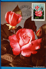 Yt 1251 ROSE PRINCESSE STEPHANIE     MONACO  CARTE MAXIMUM 1° JOUR FCP