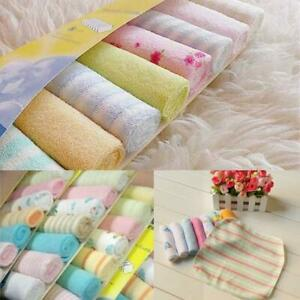 8Pcs-Pack-Infant-Newborn-Baby-Soft-Bath-Towel-Washcloth-Feeding-Wipe-Bibs-Cloth