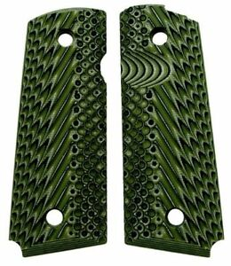 Details about VZ Operator II Dirty Olive G10 Full Size 1911 Grips Green  Government Commander