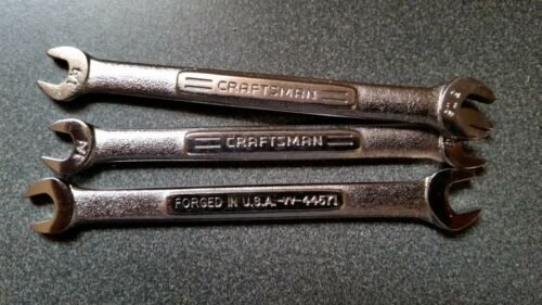 NOS Craftsman Made in USA Double Open End wrenches Std and Met sizes pick size
