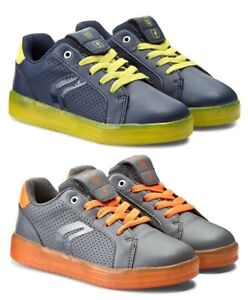 Geox Respira boys Mens brown orange shoes sneakers 38  Us 5.5 Leather Hook Loop