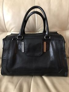 Image Is Loading Milly Leather Tote Satchel Handbag Excellent Condition