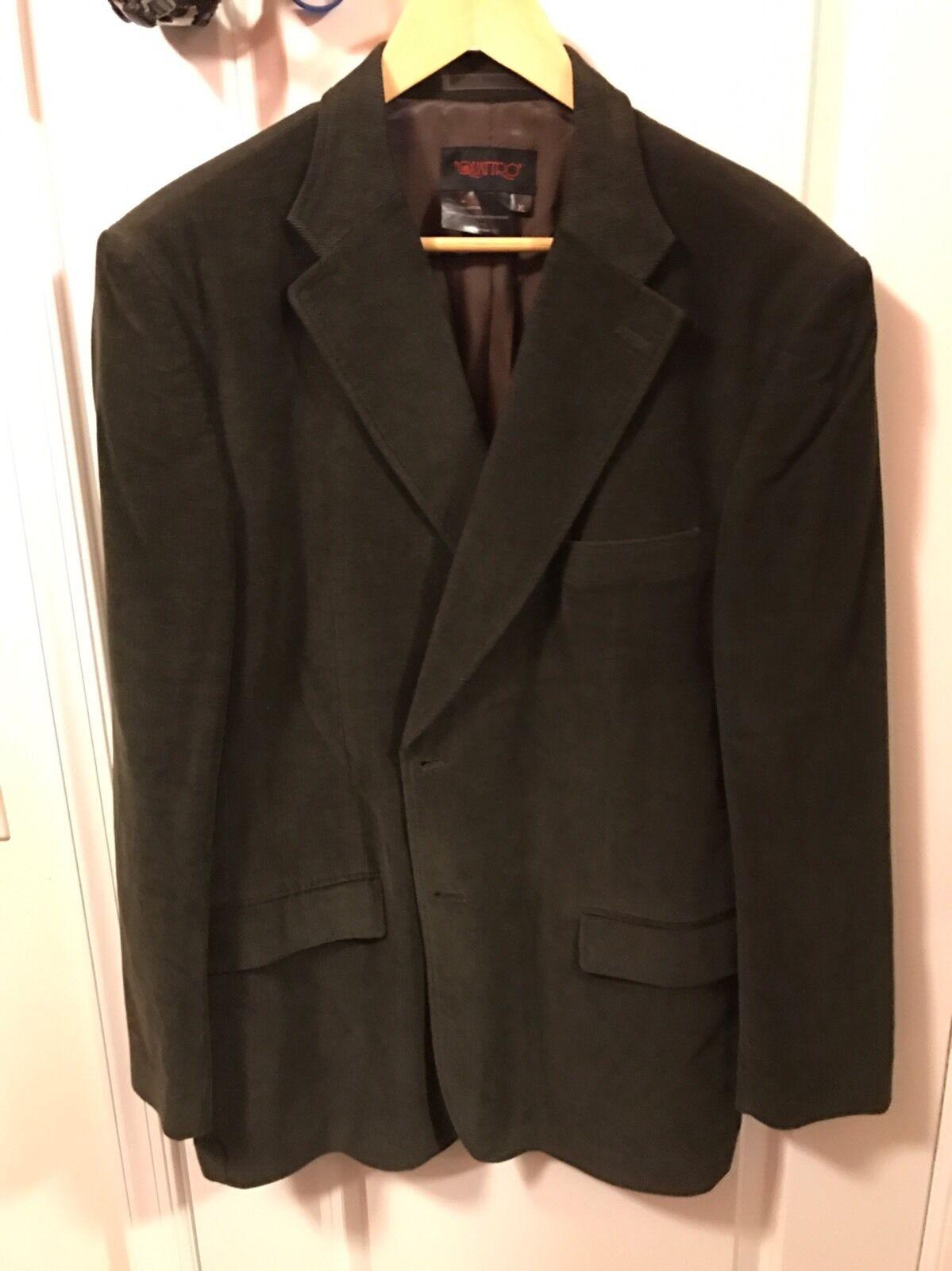 Hunter Green Corduroy Sport Coat Blazer Size XL