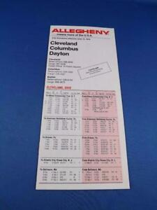 ALLEGHENY-AIRLINES-TIMETABLE-JUNE-1979-PLANE-ADVERTISE-CLEVELAND-COLUMBUS-DAYTON