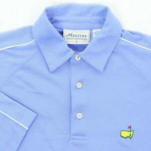Masters-Performance-Men-Small-42-034-Golf-Polo-Shirt-Blue-Polyester-Augusta