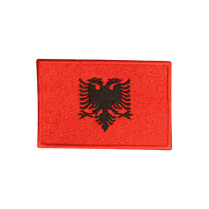 Albania National Country Flag Patch Iron On Patch Sew On Badge Embroidered Patch