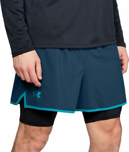 Under-Armour-Qualifier-2-In-1-Mens-Running-Shorts-Blue