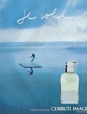 Publicité Advertising 2002  Parfum  CERRUTI  IMAGE  pour homme