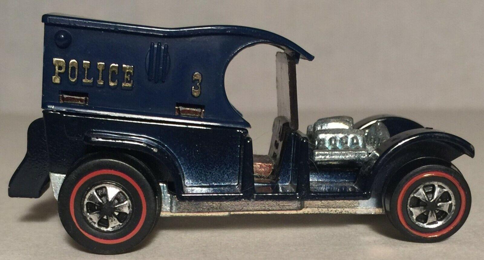 Police Paddy Wagon Redline Nice Vintage Original 1970 Hot Wheels