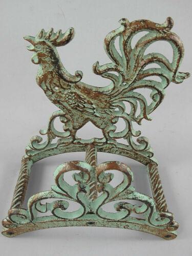 Tuyau Support robinet ancien-vert patiné en fonte 26 x 14 x 24 cm Antique
