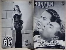 MON FILM les miracles n'ont lieu qu'une fois  Alida Valli Jean Marais - 1951