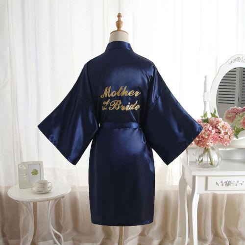 Hot Women Silk Satin Bathrobe Bridal Wedding Bride Bridesmaid Kimono Gown Robes