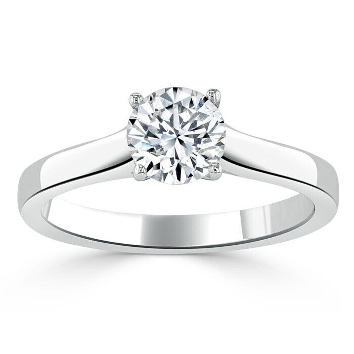2.00 Ct Round Cut Diamond Wedding Ring 14K Solid White gold Rings Size 6 7 +027