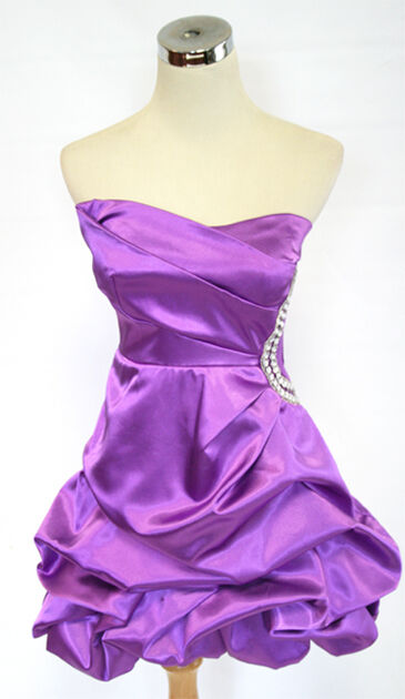 TEEZE ME Purple Homecoming Prom Party Dress 5 - 100 NWT