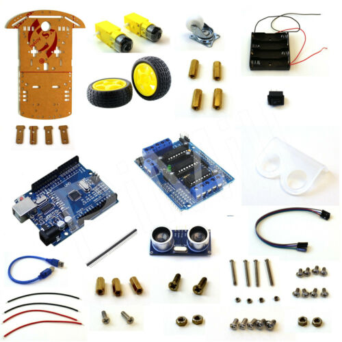 PiMill Arduino Obstacle Avoiding Robot Car Kit Non Soldering Version