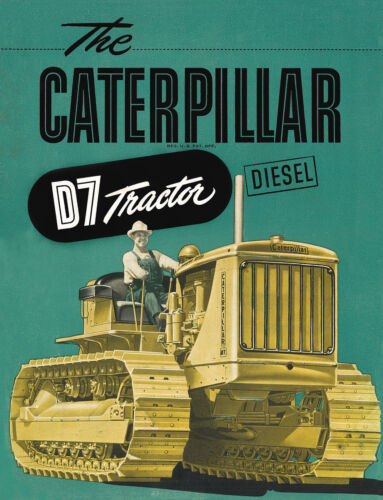 Caterar D7 7M Diesel Tractor Sales Book 1942