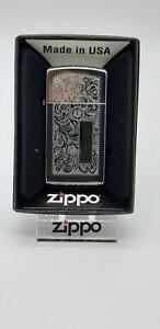 Original Zippo Venetian, chrom Slim Line - 2014 - Neu 1027005