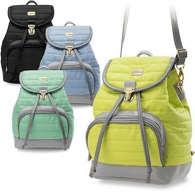 kleiner gesteppter Rucksack Damentasche geräumiger Damen - Rucksack