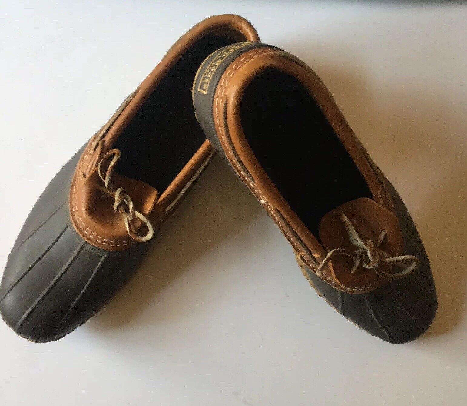 Llbean Bean botas Originals para hombre Top de cuero fondos de goma