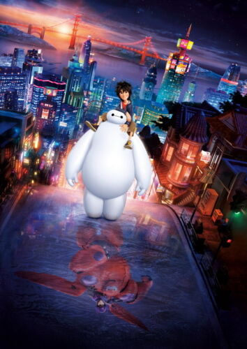 "079 Big Hero 6-2014 American Hot Movie Film 24/""x34/"" Poster"