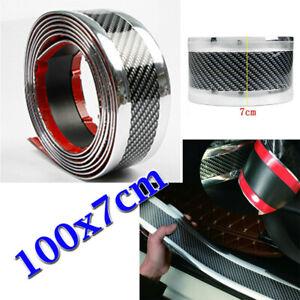 7CM-1M-Kohlenstofffaser-Auto-Zierleisten-Schutz-Stossstangenleiste-Universal