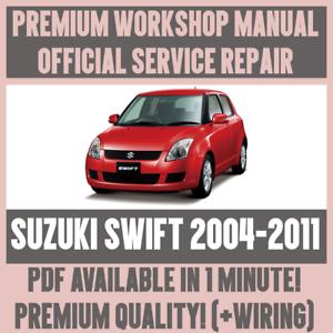 workshop manual service repair guide for suzuki swift 2004 2011 rh ebay com suzuki swift workshop manual 2007 2014 suzuki swift workshop manual