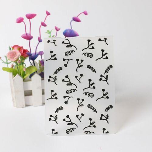 Plastic Embossing Folder Scrapbooking DIY Album Card Make Tool Stencils Craft