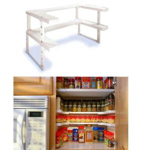 Spice-Rack-Organizer-2-Layers-Adjustable-Shelf-Storage-Rack-Shelf-Rack-New