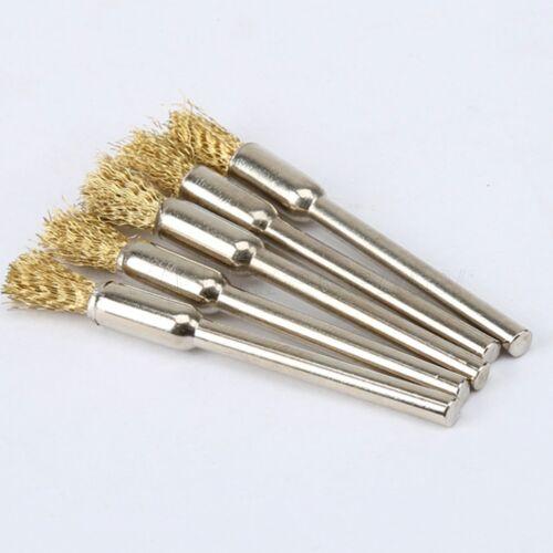 5X Pinsel-Werkzeug Messing Runddraht Rad Bleistift für Dremel Bohrgerät