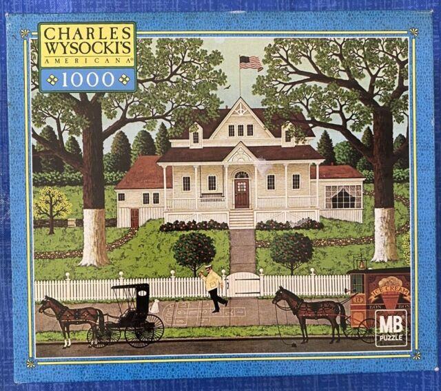 "Charles Wysocki's 1000 Piece Puzzle ""Ice Cream And Hopscotch"" NEW"