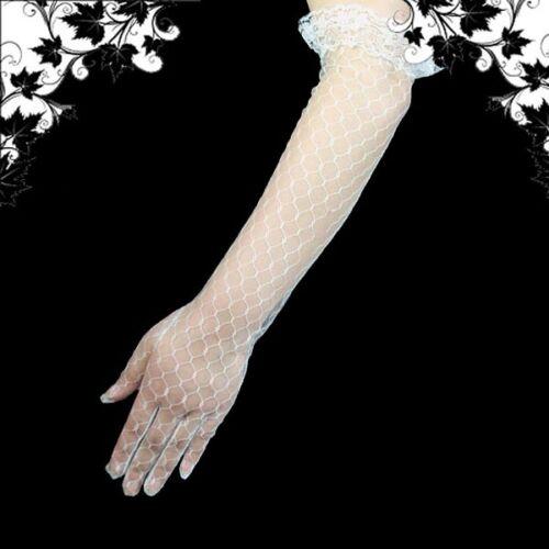 Elegant Brauthandschuhe Handschuhe,Weiß,47cm,HS-AC-W