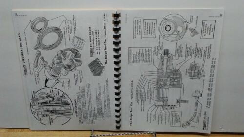 Metalworking Manuals, Books & Plans Ridgid 535 Pipe & Bolt ...