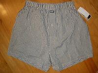 Mens Michael Kors Small S 28 30 Underwear Boxers Boxer Shorts Blue 100% Cotton
