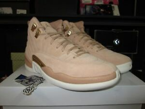 e91b1fc11e45 SALE AIR JORDAN 12 RETRO VACHETTA TAN AO6068 203 BEIGE XII WOMENS ...