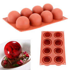 8 Holes High Ball Shaped Chocolate Cake Mold Baking Mousse Decor Tool Silicone
