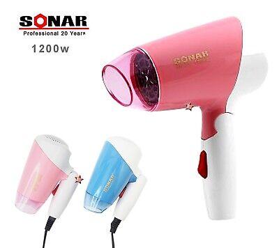 SONAR Mini Phon Asciugacapelli Viaggio Portatile Fono pieghevole 1200W capelli | eBay