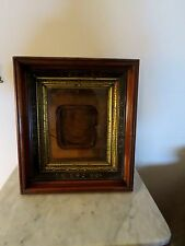 Victorian Triple Framed Picture Frame In Walnut, Ebonzied  Etched & Gold Gilt
