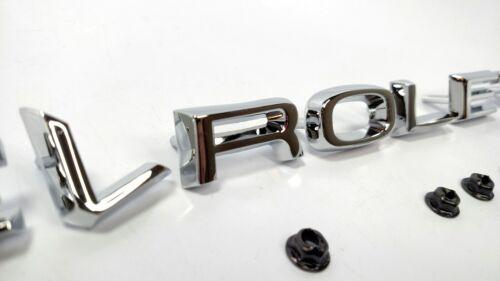 "Chrome Metal /""CHEVROLET/"" Hood Letters Emblem Set 1967-68 Chevy /& GMC C//K Trucks"