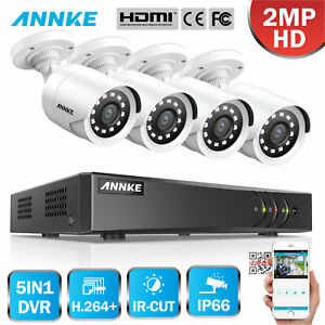 ANNKE 5in1 4CH 1080P Lite DVR 4x 2MP Outdoor CCTV Home Security Camera System 1T