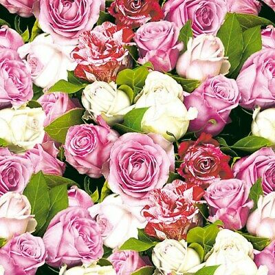 20 Paper Party Napkins Roses /& Chrysanthemums Pack of 20 3 Ply Floral Serviettes