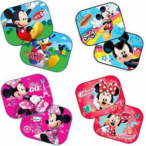 2 x Disney Minnie Mickey Mouse Car Sun Shade UV Baby Children Kids ... 0cd468f3e4a