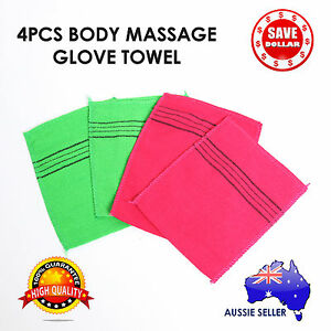 4Pcs-Korean-Massage-Body-Glove-Rough-Bath-Towel-Exfoliating-Scrubber-Italy-Skin