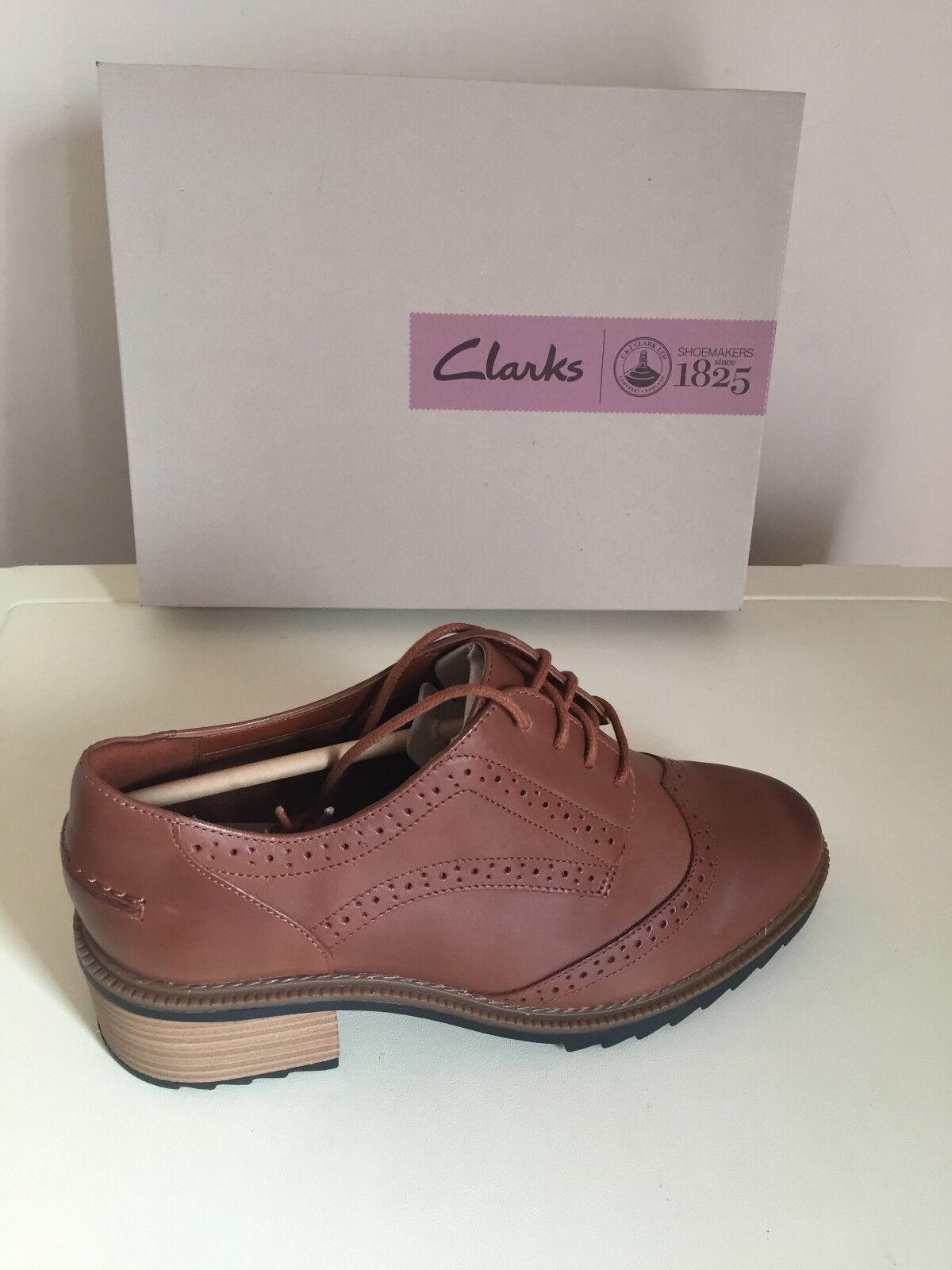 Mujeres señoras de cuero tostado tostado tostado Clark zapatos talla UK 6.5 5.5 y 7  la mejor oferta de tienda online